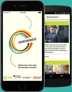 """""""Ankommen"""" Bundesamt für Migration und Flüchtlinge, Bundesagentur für Arbeit, Goethe-Institut und Bayerische Rundfunk"""